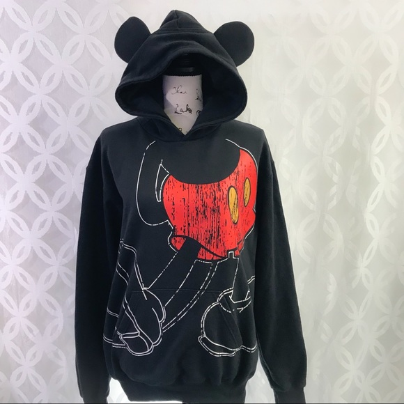 b2dd19ad5f77 Disney Tops - I Am Mickey Mouse Pullover Hoodie With 3-D Ears
